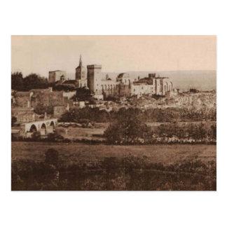 Reproduction 1925 de papes Palace Avignon France Cartes Postales