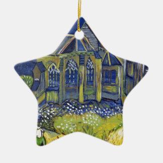 Reproduction d'art de Van Gogh, l'église chez Ornement Étoile En Céramique
