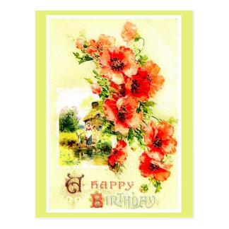 Reproduction vintage un bouquet de carte postale