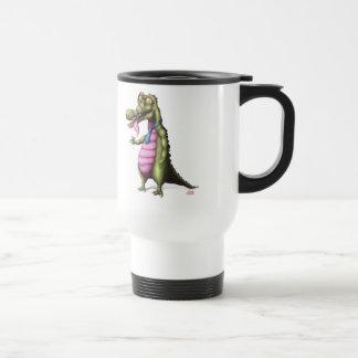 Reptile appréciant martini mug de voyage