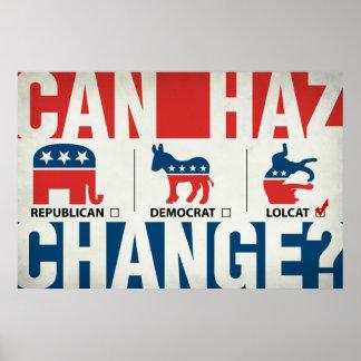 Républicain, Démocrate, LolCat Poster