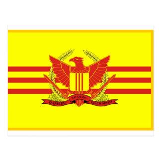 République de drapeau de forces militaires du carte postale