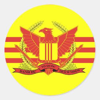 République de drapeau de forces militaires du sticker rond