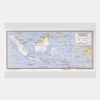 République de l'Indonésie et du Portugais Timor Sticker Rectangulaire