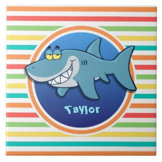Requin Rayures lumineuses d arc-en-ciel Carreau En Céramique