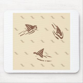 Requins vintages grunges 3 ailerons tapis de souris