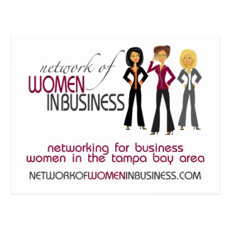 Réseau des femmes en carte postale d'affaires