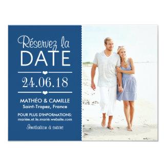 Réserver la Date du Mariage | Cartes Avec Photo Carton D'invitation 10,79 Cm X 13,97 Cm