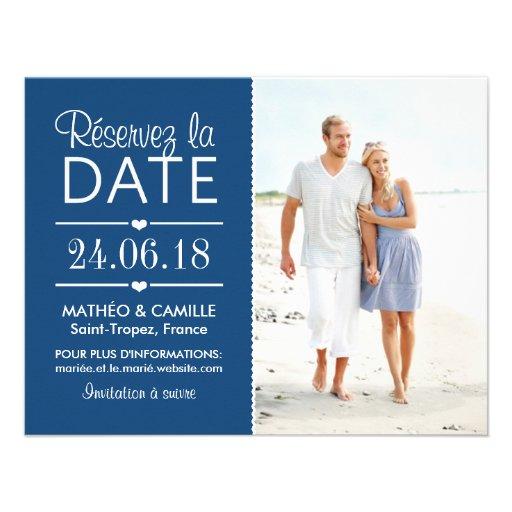 Réserver la Date du Mariage | Cartes Avec Photo Faire-part Personnalisé