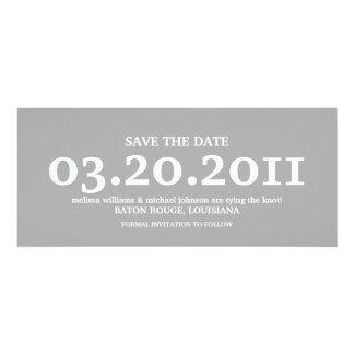 Réservez la date carton d'invitation  10,16 cm x 23,49 cm
