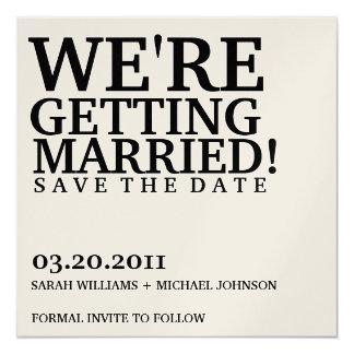 Réservez la date carton d'invitation  13,33 cm