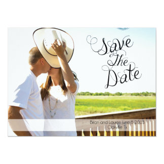 Réservez la date carton d'invitation  13,97 cm x 19,05 cm