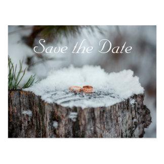 Réservez la date--Mariage d'hiver Carte Postale