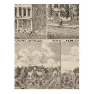Résidence et moulin de Samuel Cade, Wabash Tp Carte Postale