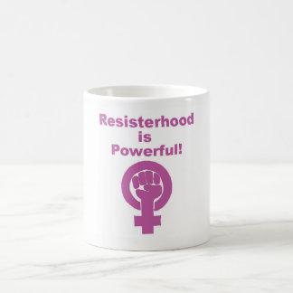Resisterhood est tasse puissante, tasse féministe