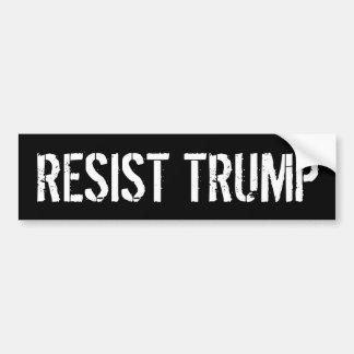 Résistez à Tump - l'anti Président Trump Autocollant De Voiture