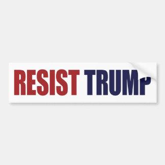 Résistez au Président Trump - anti atout Autocollant De Voiture