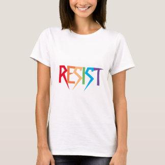 Résistez dans la chemise indivisible de couleurs t-shirt