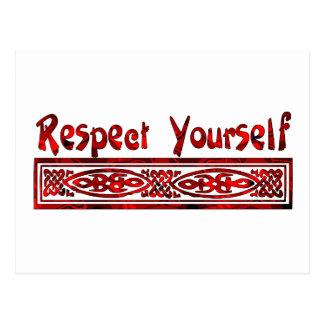 Respect vous-même carte postale