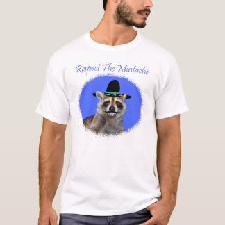 Respectez le T-shirt de mâle de moustache