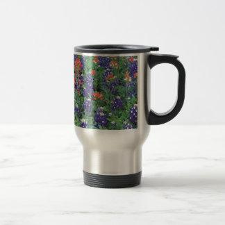 Ressort de pourpre de fleur de ressort de nature mug de voyage