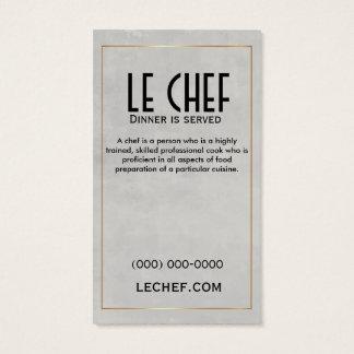 Restaurant de chef dinant l'or 2-Sided de carte de