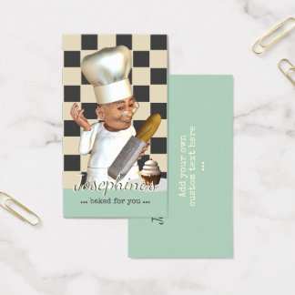 Restauration de boulangerie de chef de pâtisserie cartes de visite