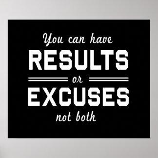 Résultats ou excuses