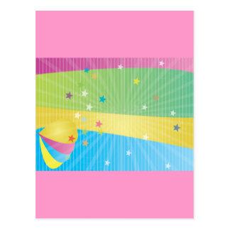 Résumé coloré carte postale