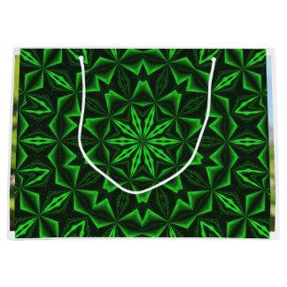 Résumé vert grand sac cadeau