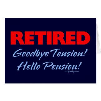 Retiré : Au revoir dire de tension Carte De Vœux