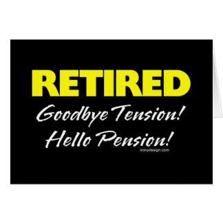 Retiré : Au revoir pension de tension bonjour ! Carte De Vœux