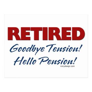 Retiré : Au revoir pension de tension bonjour ! Carte Postale