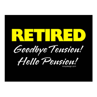 Retiré : Au revoir tension Cartes Postales