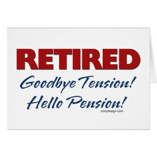 Retiré : Bonjour pension ! Carte De Vœux