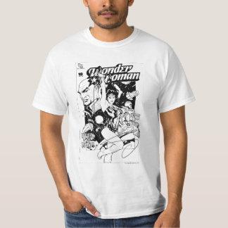 Retour de femme de merveille du Khundi B&W T-shirt
