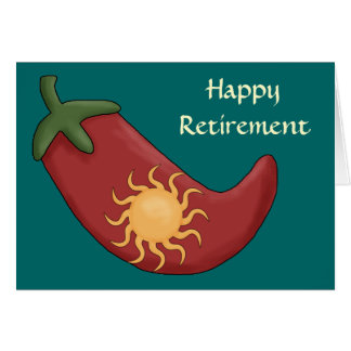 Retraite chaude de poivre de piment rouge - carte de vœux
