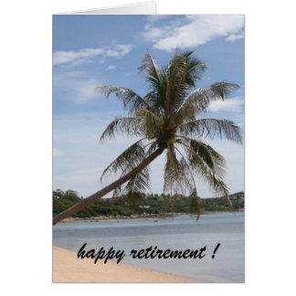 retraite de palmier carte de vœux