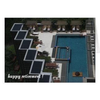 retraite de piscine carte de vœux