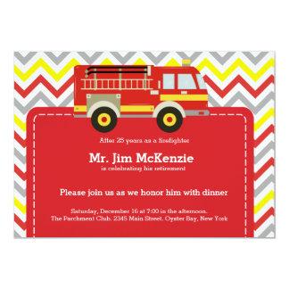 Retraite de sapeur-pompier carton d'invitation  12,7 cm x 17,78 cm
