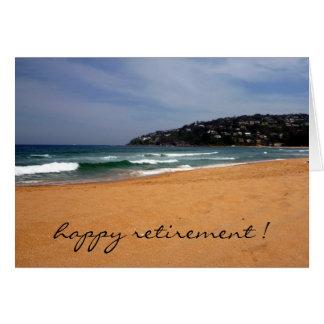 retraite de vue de plage carte de vœux