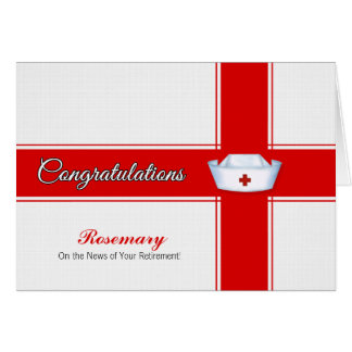 Retraite des félicitations de soins - nom carte de vœux