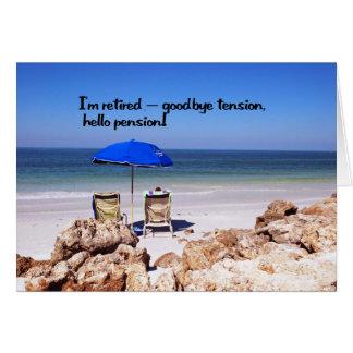 Retraite et une pension carte de vœux