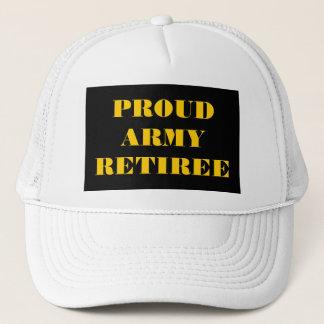 Retraité fier d'armée de casquette
