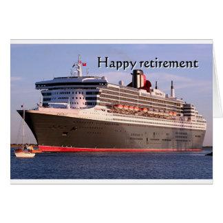 Retraite heureuse : bateau de croisière carte de vœux
