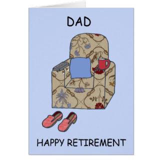 Retraite heureuse de papa carte de vœux