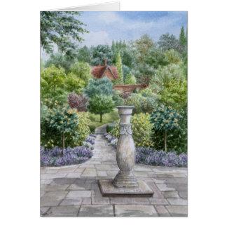 Retraite heureuse - jardin anglais de pays carte de vœux
