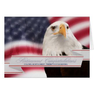 Retraite militaire - félicitations faites sur carte de vœux