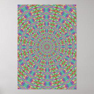 Rétro affiche hippie psychédélique