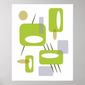 Rétro affiche - vert de Martini d'olives
